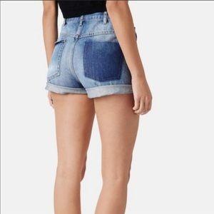 Topshop Moto Rosa Denim Shorts